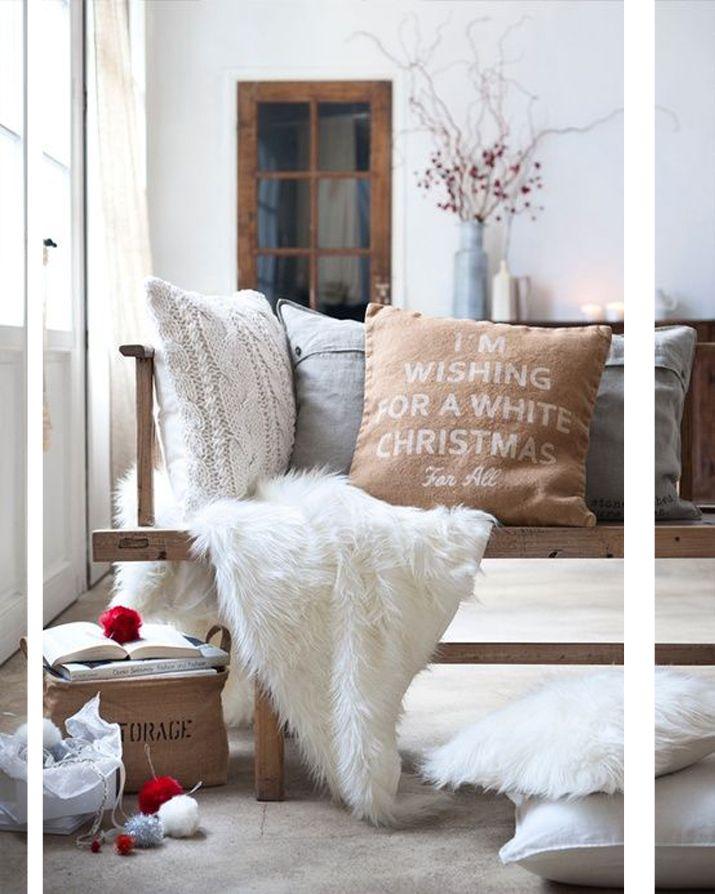 WHITE CHRISTMAS DECORATIONS & INSPO | Decoración de unas ...