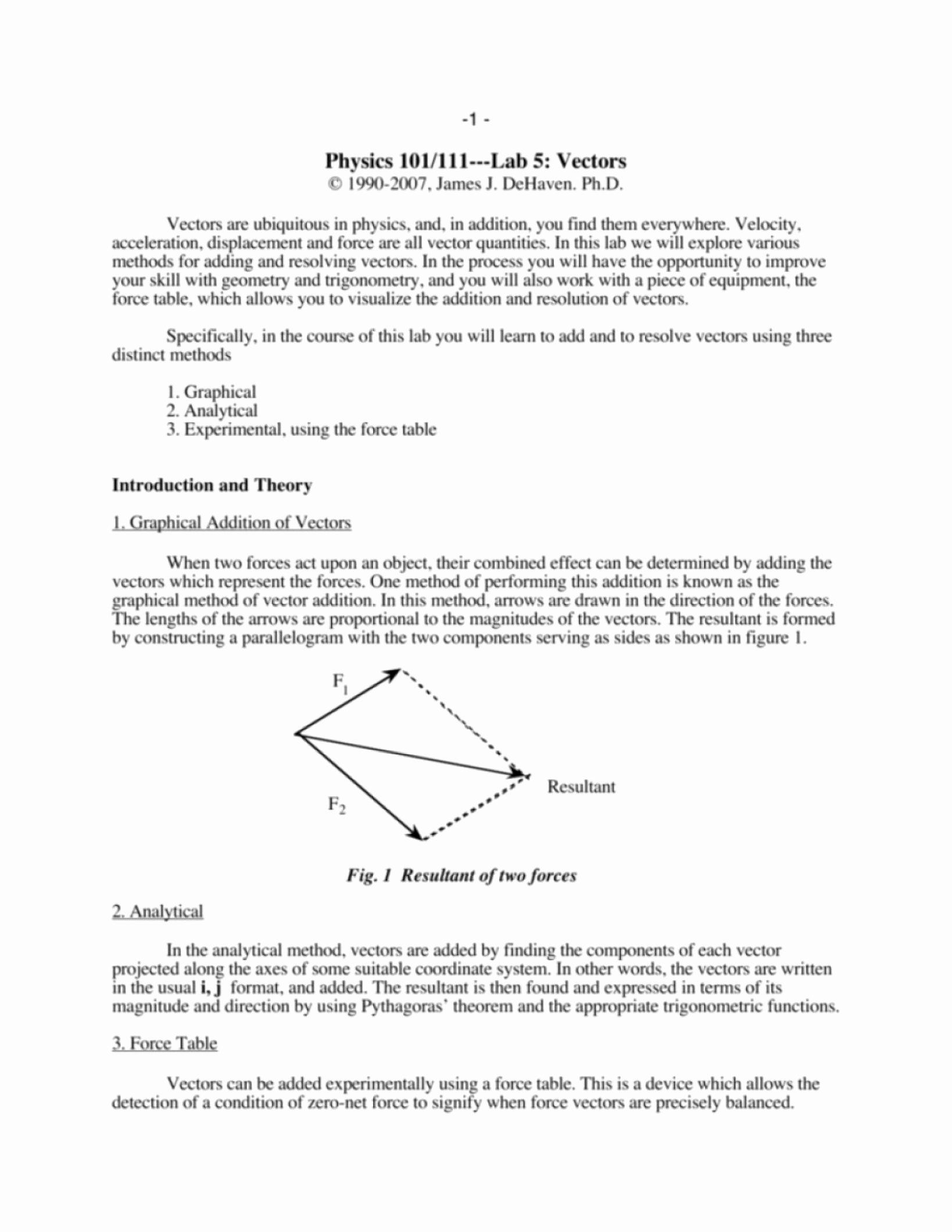 50 Vector Addition Worksheet With Answers In 2020 Addition