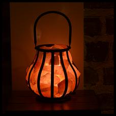 Himalayan Salt Wrought Iron Basket Lamps Tuz