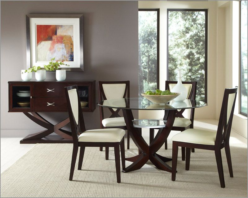 Glass Table Dining Room VECELO 5 piece Glass Dining Table Set