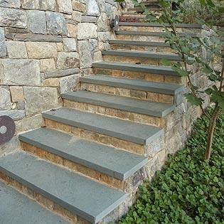 Best Private Residence Exterior Stairs Slate Patio 400 x 300