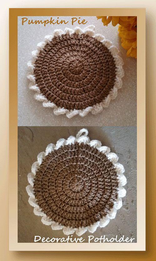 Pumpkin Pie Potholder | Figuras como nagarraderas | Pinterest ...