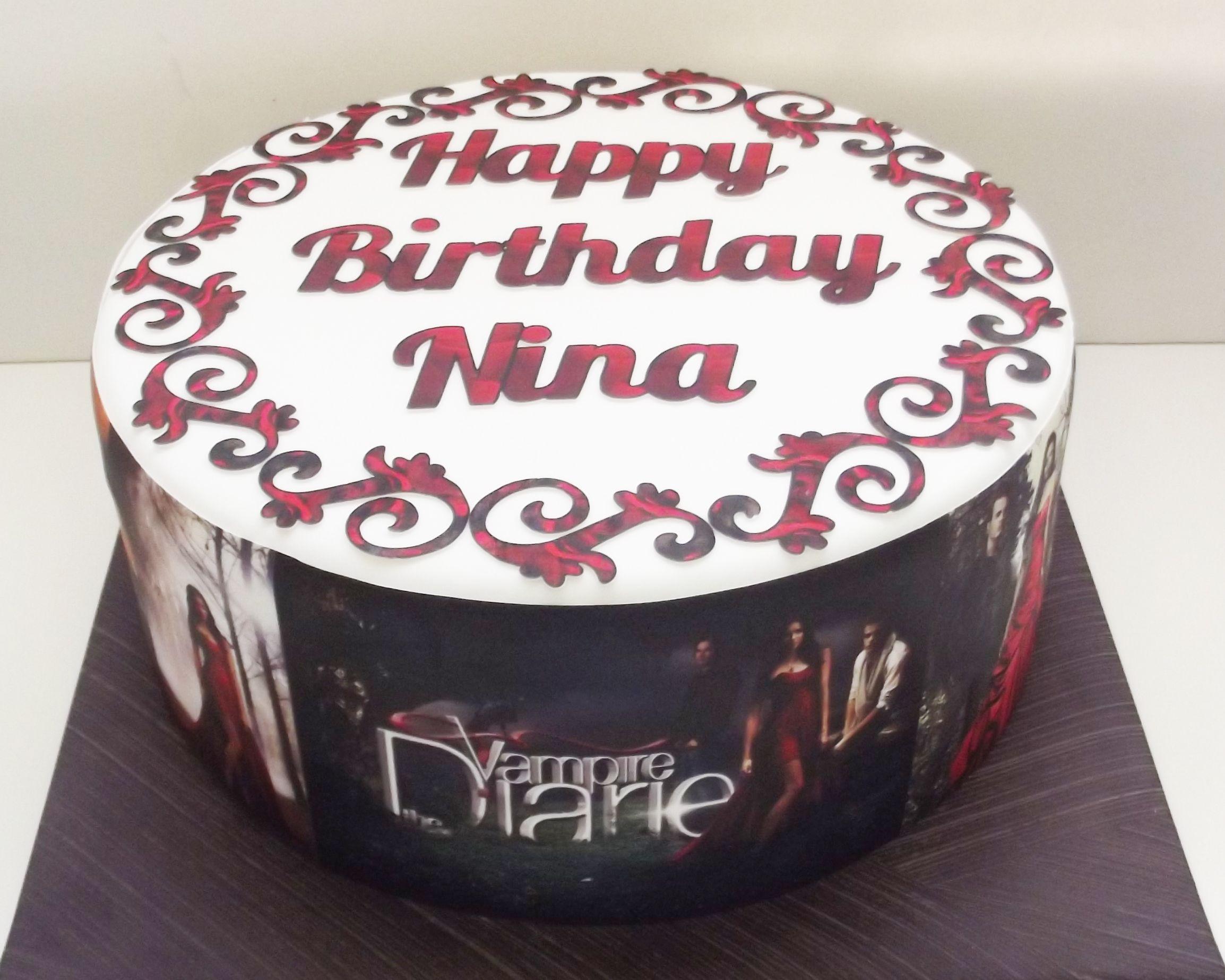 Vampire Diaries Birthday Cake Birthday Cakes Pinterest