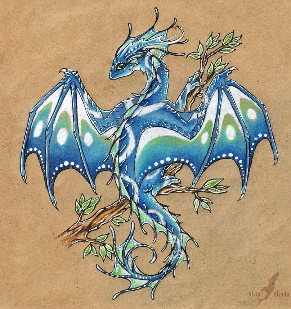 Early spring dragon by AlviaAlcedo.deviantart.com on @deviantART