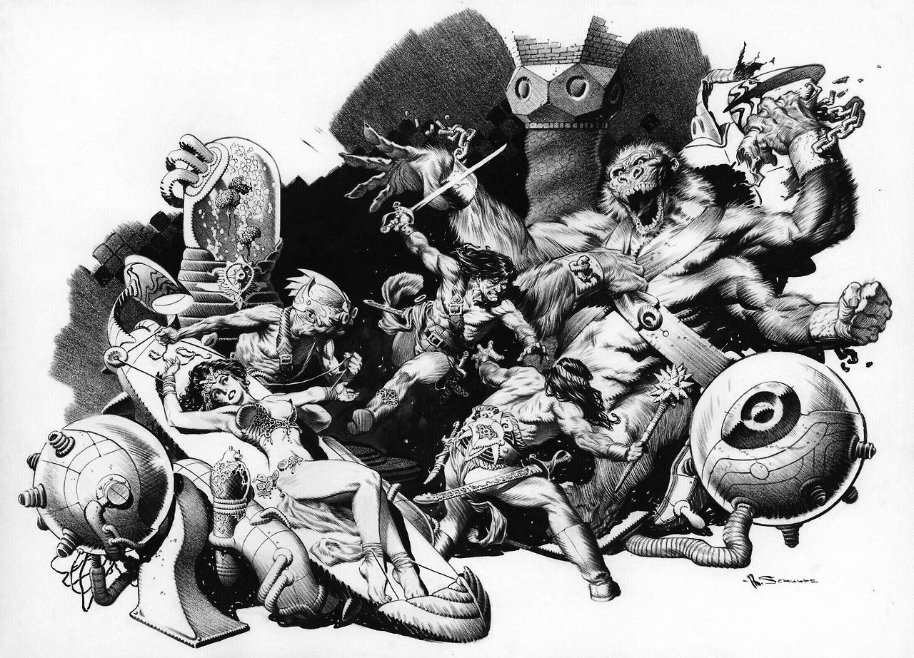Amato Illustration by Mark Schultz from Edgar Rice Burroughs' novel, The  UM22