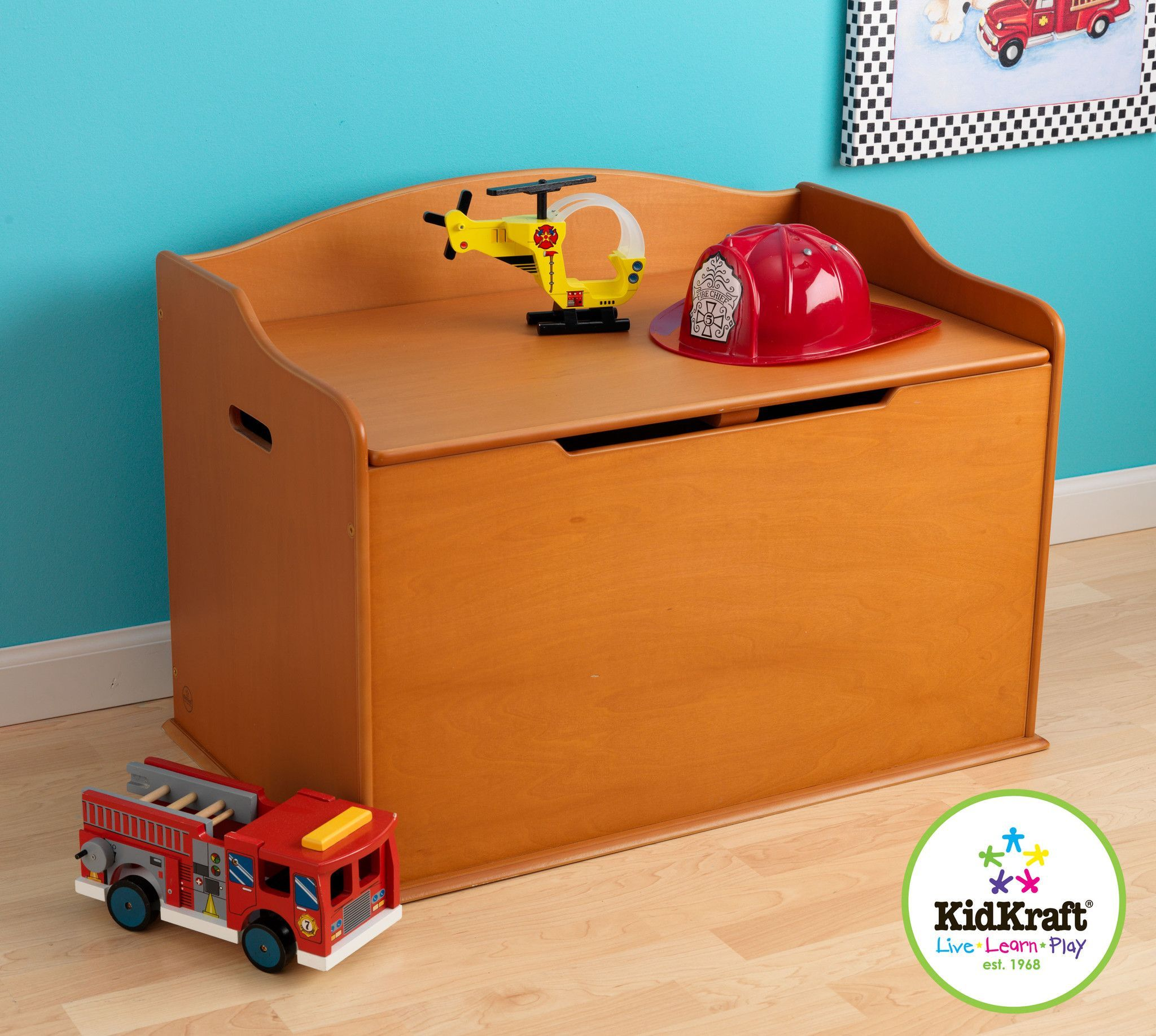 Kidkraft austin toy box natural 14953 - Kidkraft Austin Toy Box Honey 14954