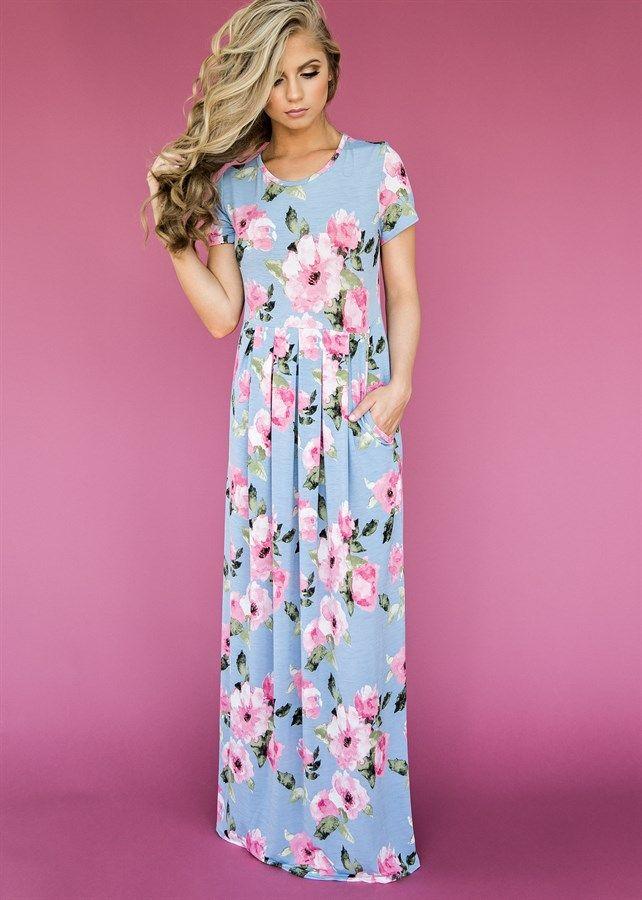 Floral Maxi Dress | Pinterest | Vestido largo, Vestiditos y Ponerse