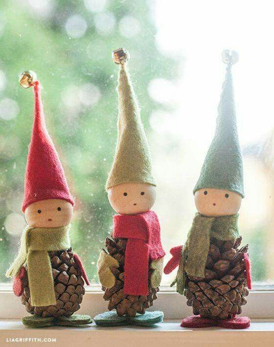 Duendes piña   Patrones   Pinterest   Duendes, Navidad y Adornos