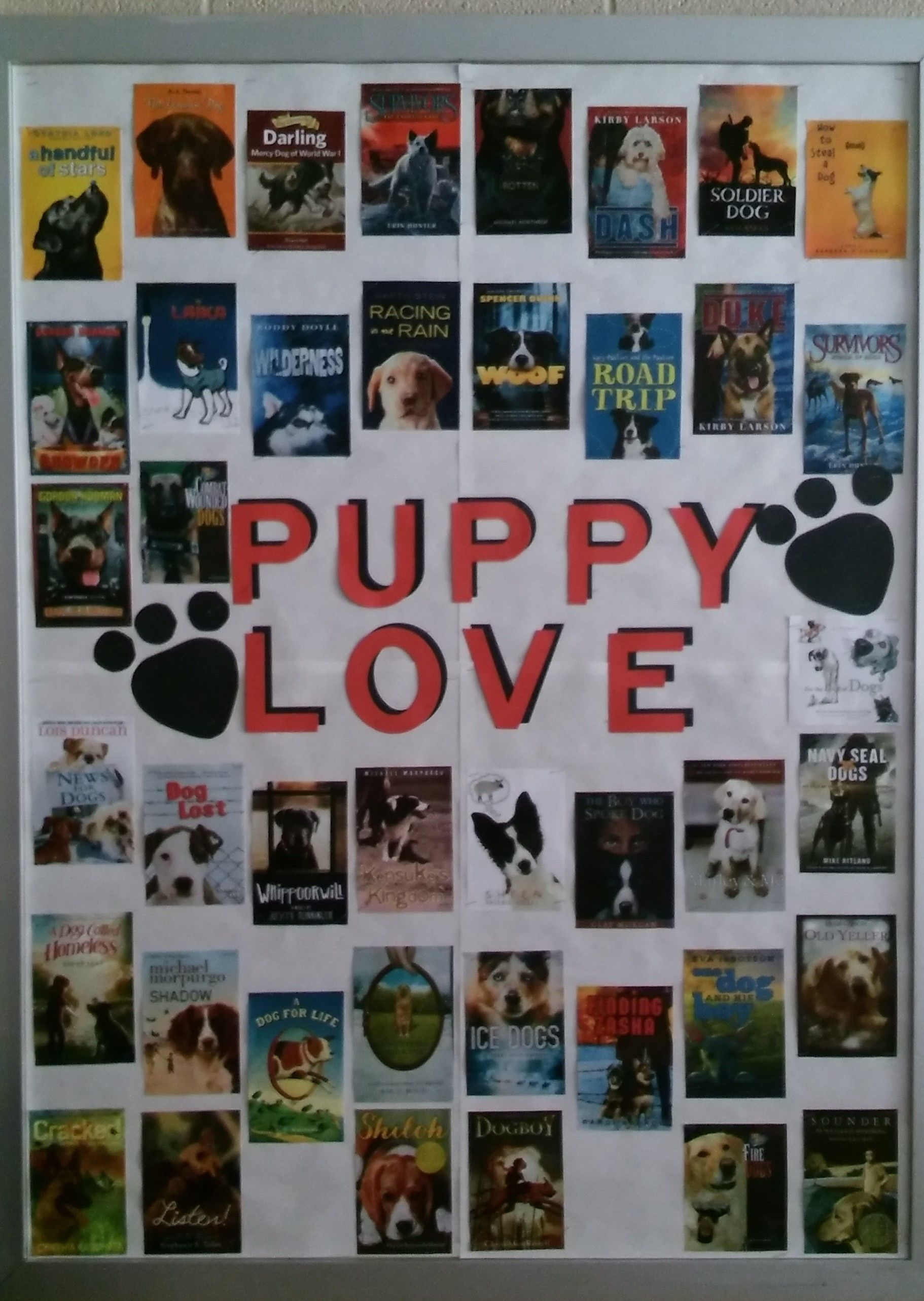 Library Display For Valentines Day In Middle School Library