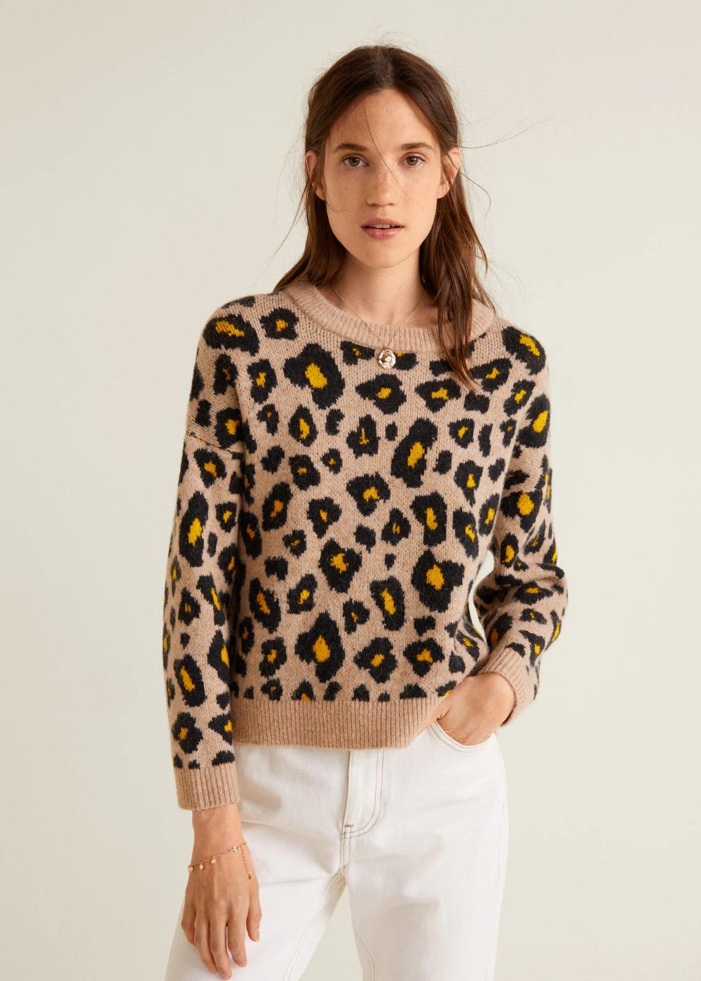 animal print pullover damen