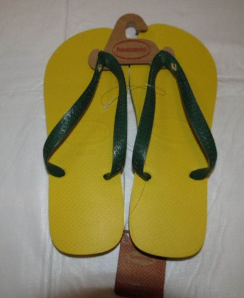 dca015947fb13d Havaianas Brasil Mens Flip Flops Sandals Citrus Yellow 4000032 Size 10 11  NWT  Havaianas  FlipFlops