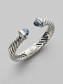 David Yurman Blue Topaz Sterling Silver Bracelet