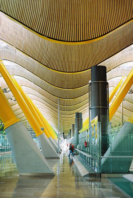 Madrid Airport – Terminal 4. I loved the architecture here.