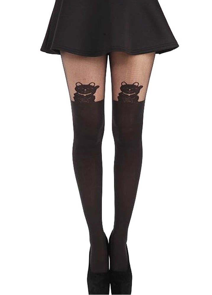 2ed5b2fc40ef2a Lucky Cat Tights | Accessories | Tights, Cat tights, Fashion tights