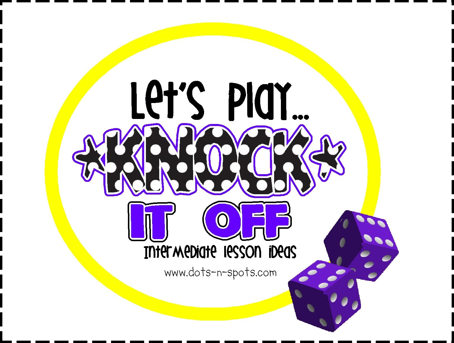 Knock It Off Math Game For Practicing Multiplication Facts Uses 12 Sided Dice Game Board