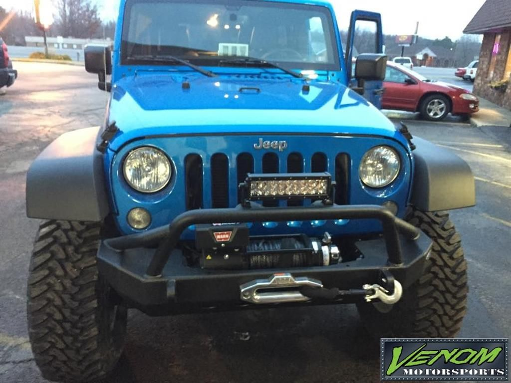 2015 Jeep Rubicon Hydro Blue By Venom Motorsports In Grand Rapids Mi Click To View More Photos And Mod Info Jeep Wrangler Rubicon Jeep Jeep Rubicon