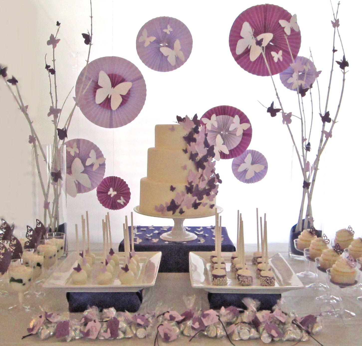 Butterfly Dessert Table Fiesta Con Tema De Mariposas Fiesta De Mariposa Decoraciones De Mariposa