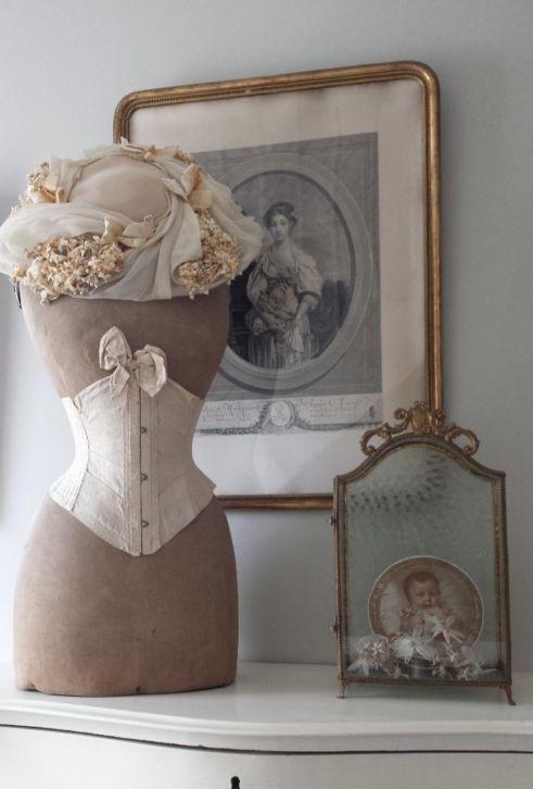 Beautiful, Victorian Dress Form Display ~