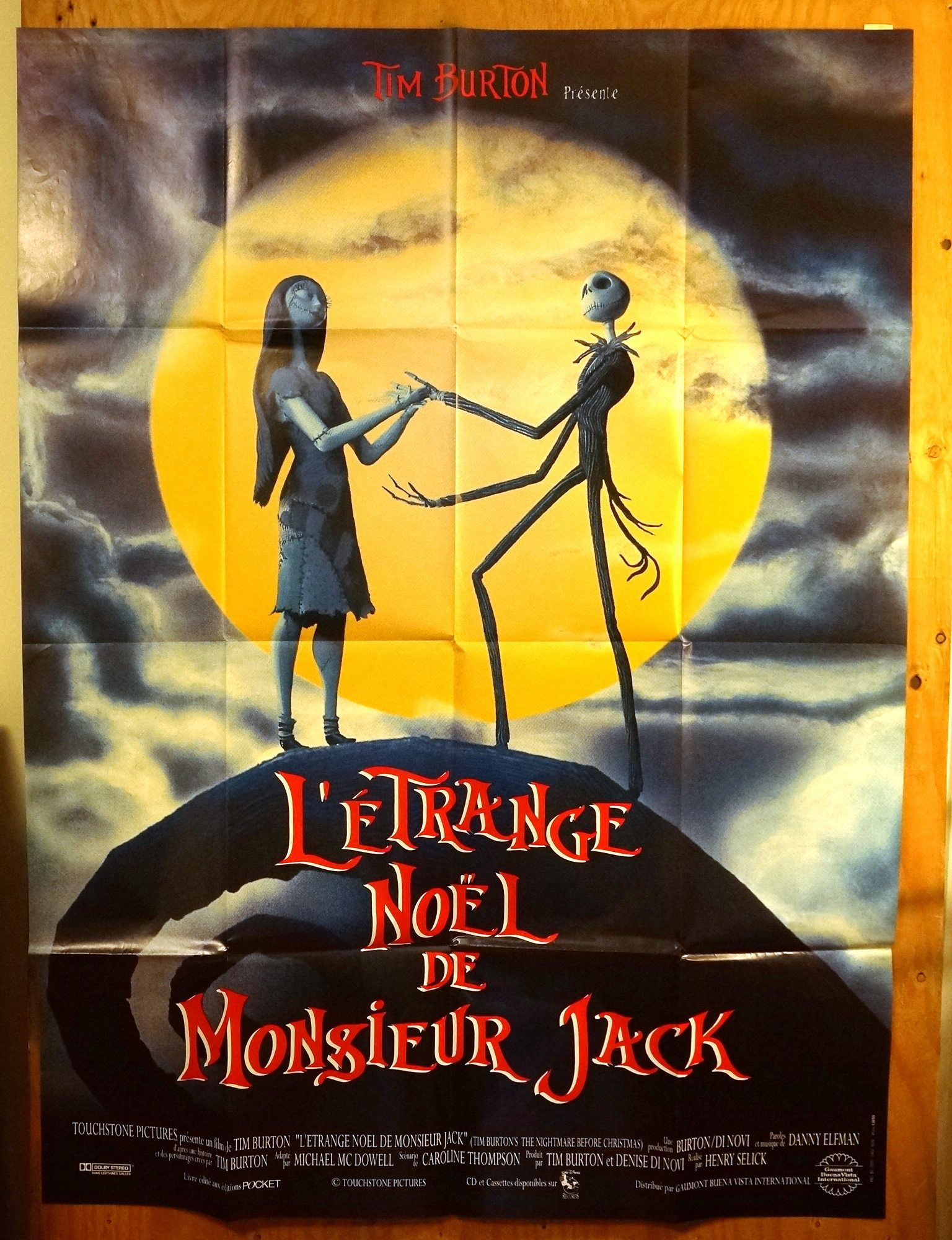 Nightmare Before Christmas In French.Nightmare Before Christmas French Subway Movie Poster L