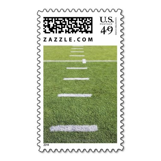 Yardlines on Football Field Postage Stamps I love this design! It