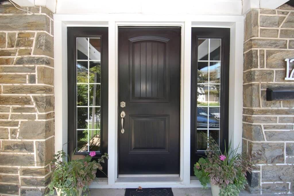 27 Pictures Of Black Front Doors Front Entry Traditional Front Doors Painted Front Doors Steel Front Door
