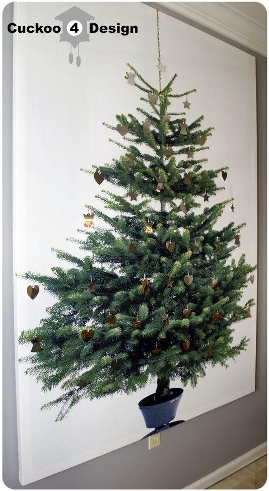 Cuckoo4design Diy Christmas Wall Christmas Tree Canvas Ikea Christmas