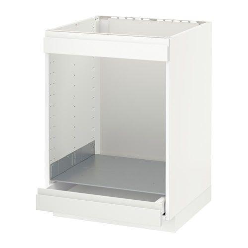 METOD Base cab for hob+oven w drawer White/voxtorp matt white IKEA