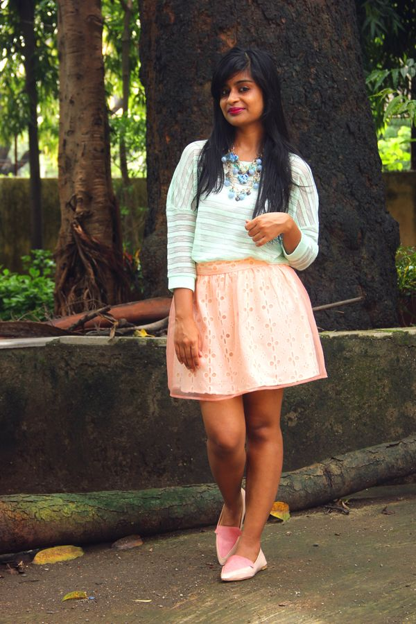 Sorbet Hues #personalstyle #OOTD #sorbet #pastels #blog #blogger #stylist #india #mumbai #forever21 #mint #peach