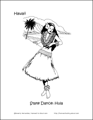 Christmas In Hawaii Coloring Pages