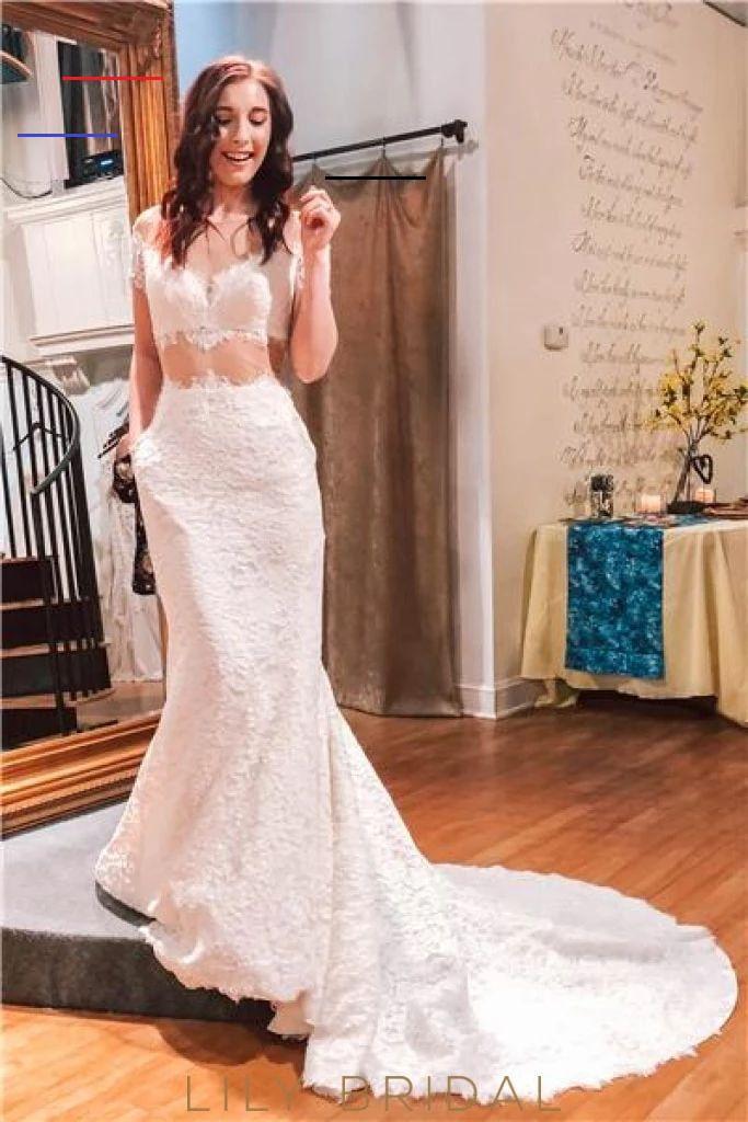 Lace Illusion Sheer Neck Short Sleeves Long Mermaid Wedding Dress – LilyBridal <a class=pintag href=/explore/dress/ title=#dress explore Pinterest>#dress</a> <a class=pintag href=/explore/fashion/ title=#fashion explore Pinterest>#fashion</a> <a class=pintag href=/explore/homedecor/ title=#homedecor explore Pinterest>#homedecor</a> <a class=pintag href=/explore/lifequotes/ title=#lifequotes explore Pinterest>#lifequotes</a> <a class=pintag href=/explore/frases/ title=#frases explore Pinterest>#f