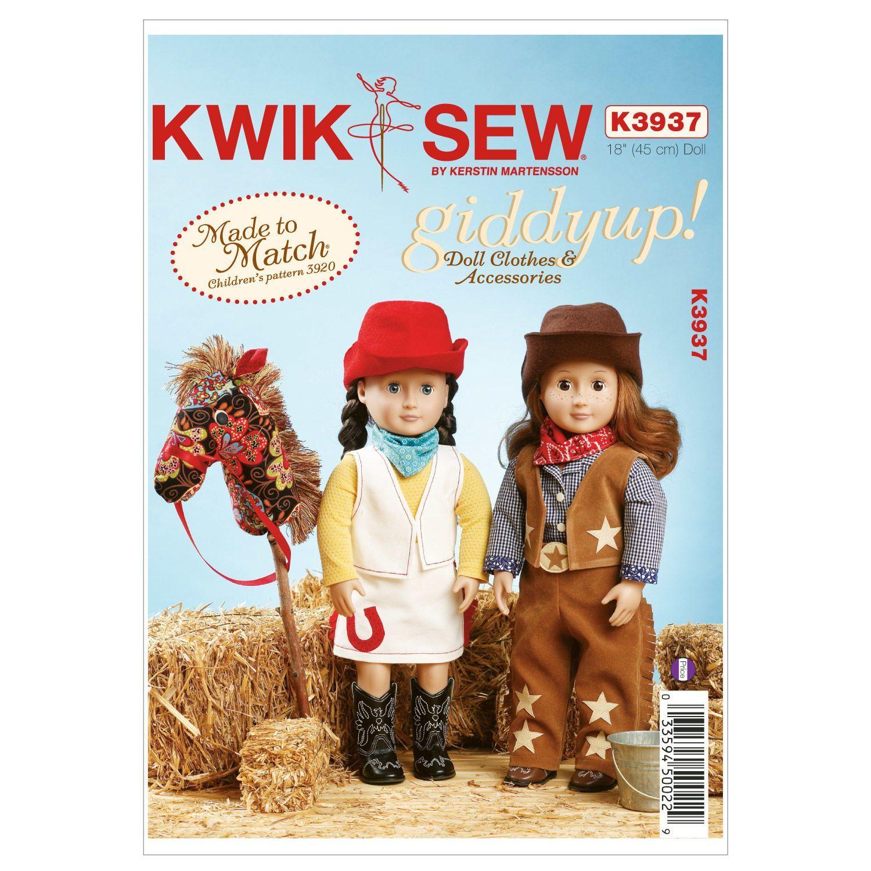 Mccall Pattern K3937 18 (45 Cm) - Kwik Sew Pattern