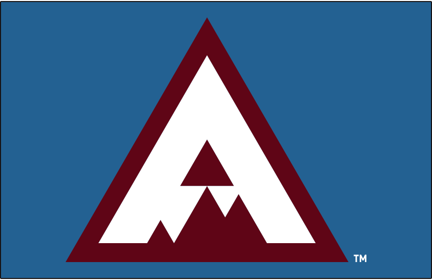 Colorado Avalanche Special Event Logo 2019 20 Burgundy Triangle With A White A In The Shape Of A Mountain Peak Event Logo Colorado Avalanche Word Mark Logo