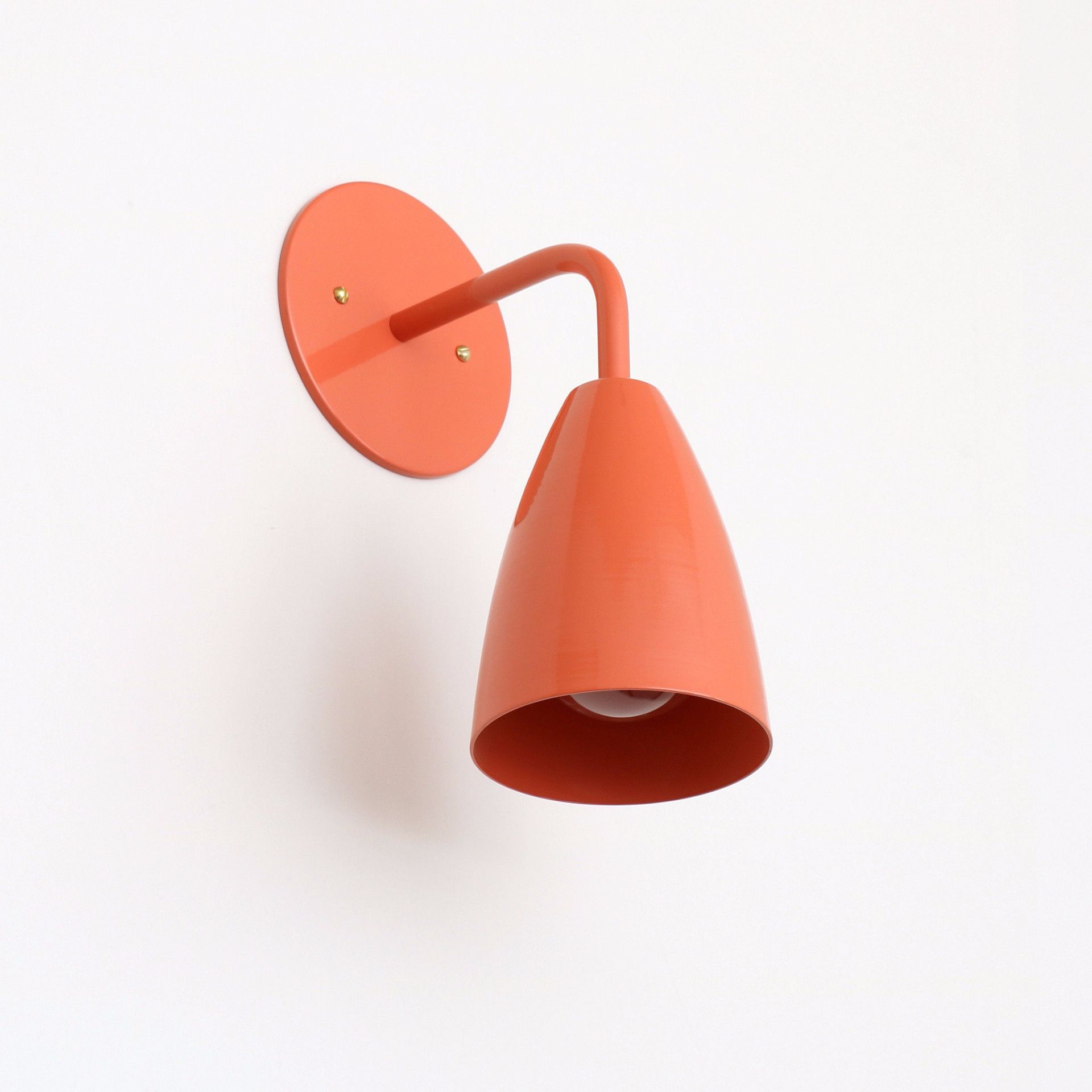 Shaded sconce: solid color | Sconces, Modern wall sconces ...