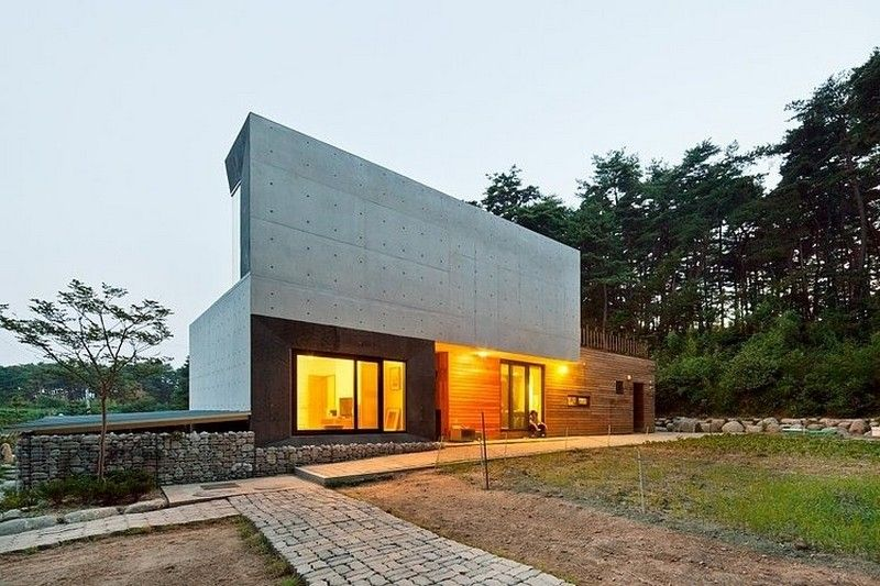 Beautiful View Modern Countryside Residence Exterior At Evening Interior Decor - Decorstate