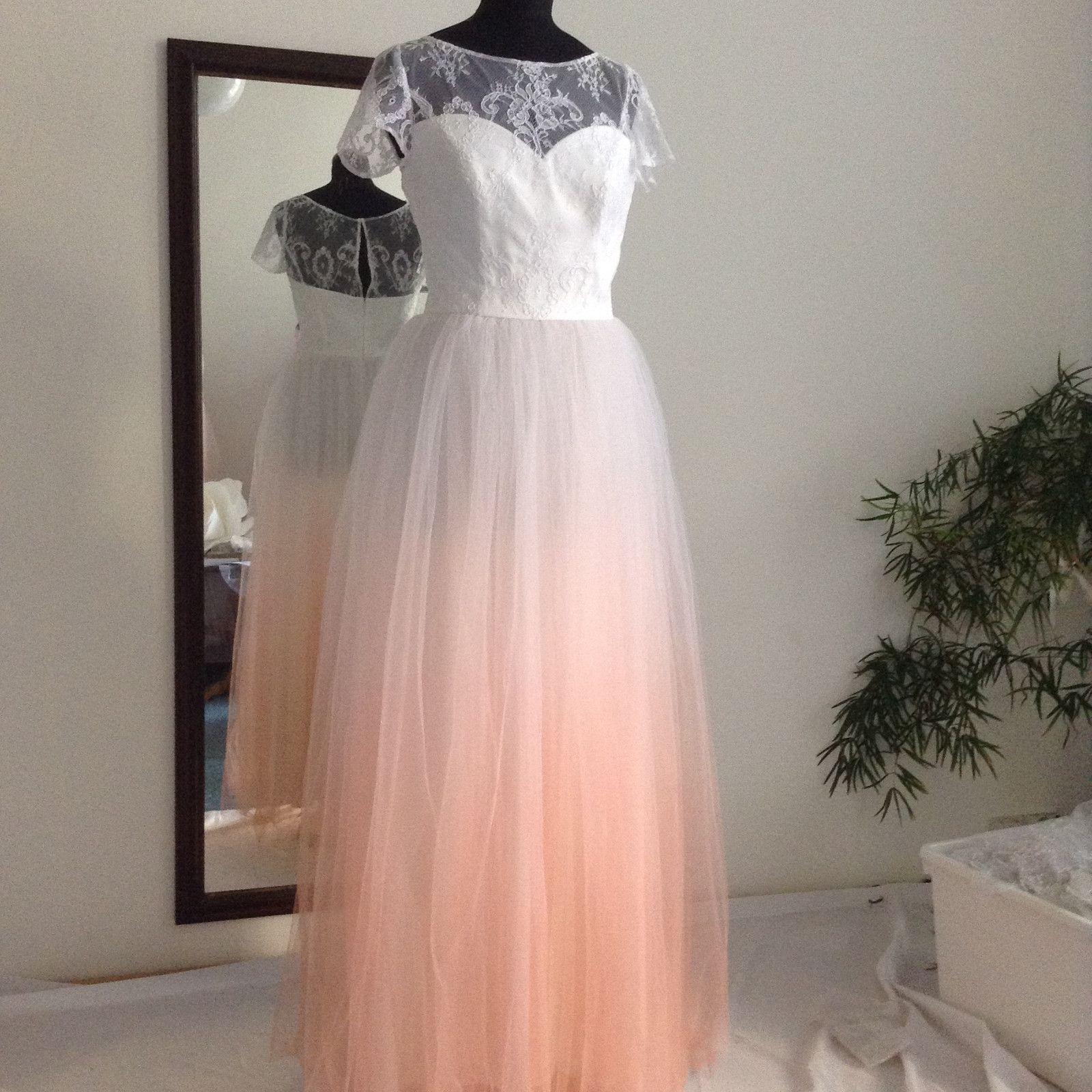 6db58d710114 Ombré+svatební+šaty+Tylová+sukně+těchto+šatů+je+barvena+ombré+stylem ...