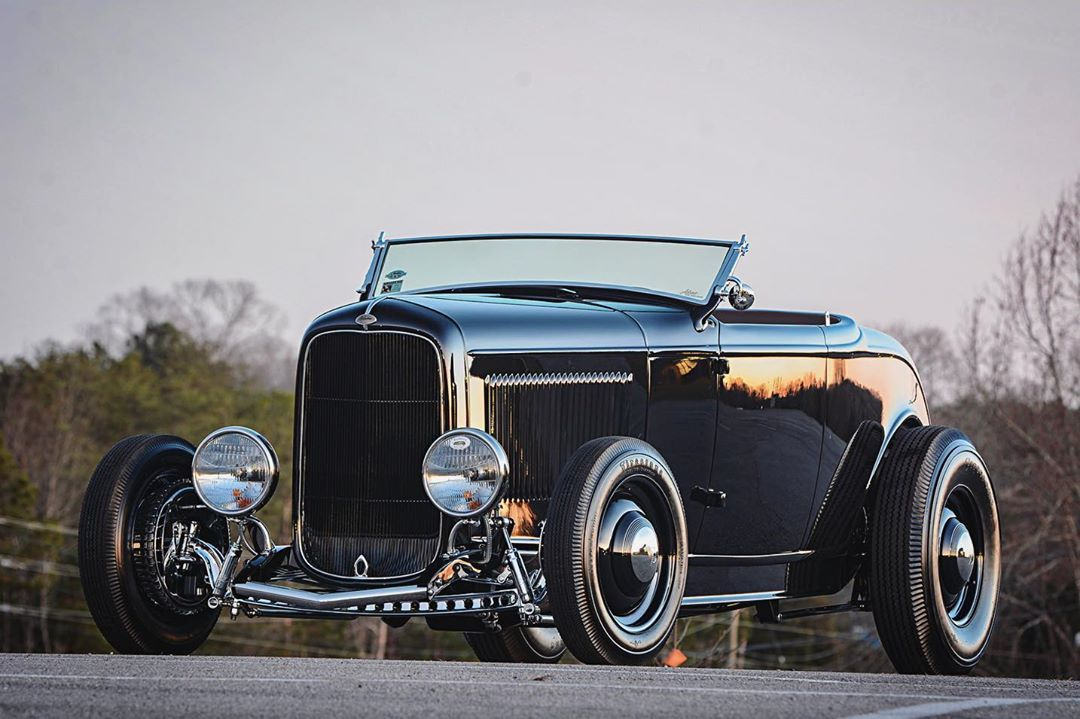 Adams Hot Rod Shop built this sinister 1932 Ford highboy