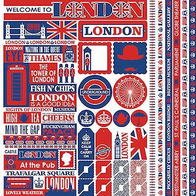 Reminisce London 12x12 Sticker Sheet Scrapbooking England Travel