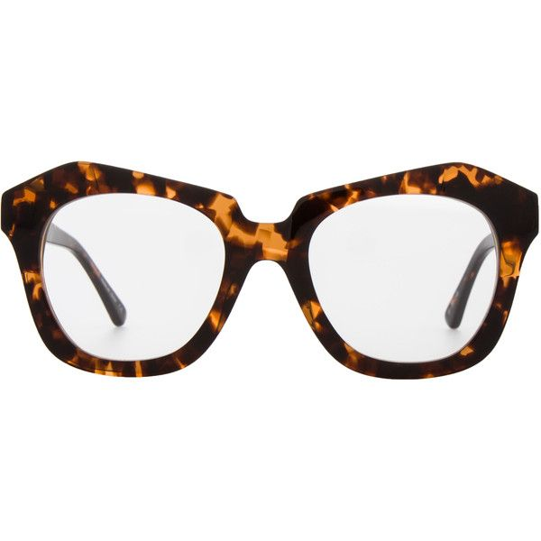Awesome Max Studio Black Tortoise Zyl Clear Lens Frames ($90) ❤ Liked On Polyvore  Featuring