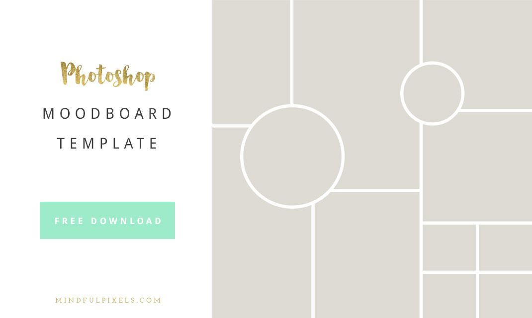 fashion mood board template - how to create a brand board free moodboard photoshop