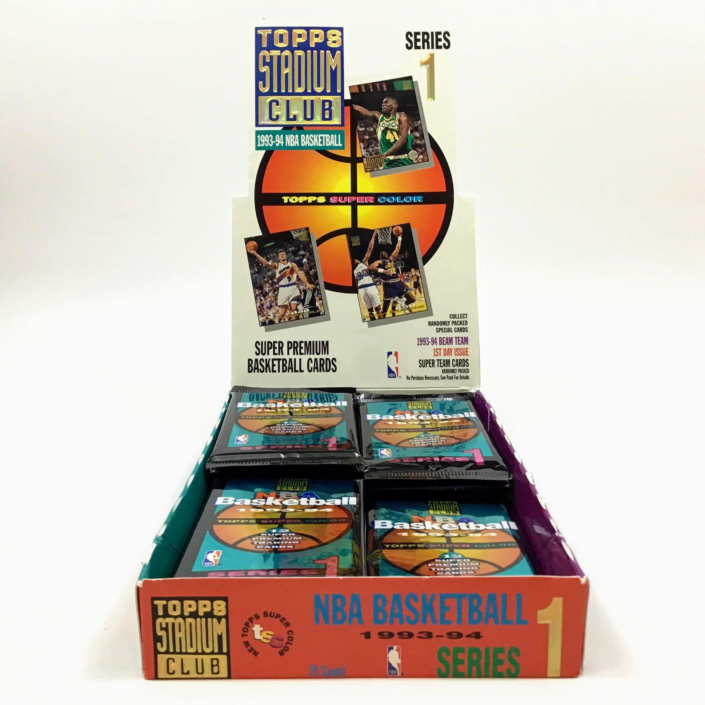 1pack 19931994 topps stadium club basketball trading