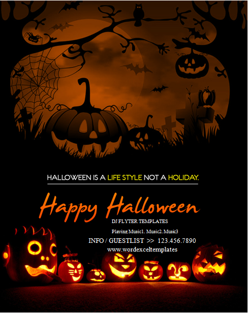 Halloween Party Flyer Template  Poster    Halloween