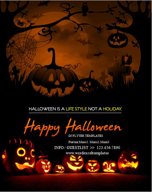 Halloween party flyer template Halloween party flyer