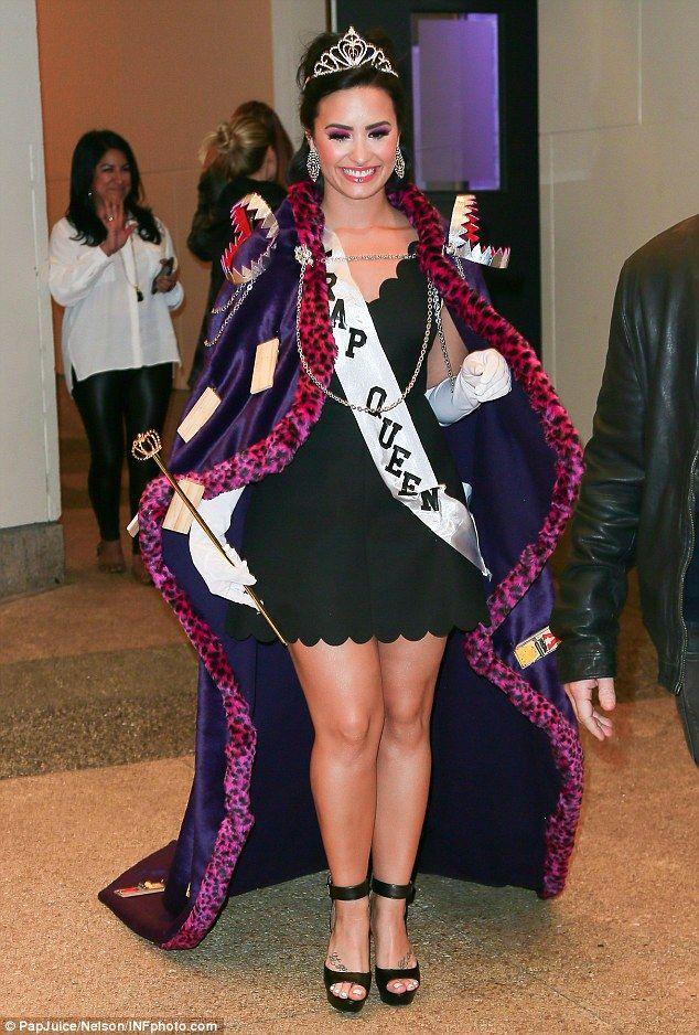 Demi Lovato channels inner prom queen in sexy fancy dress costume ...