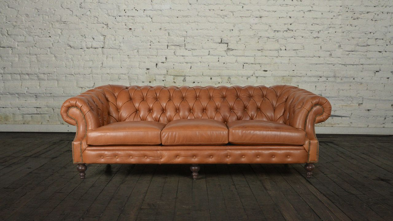 Biltmore Chesterfield Leather Sofa - Made in USA | Leather ...