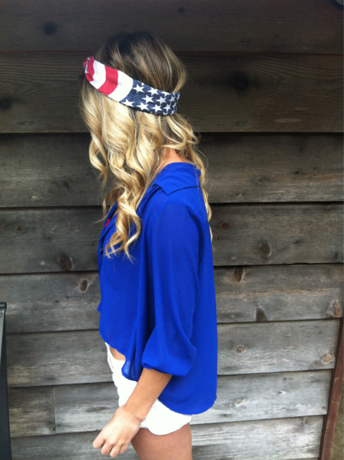 show your country's spirit with a flag head wrap!