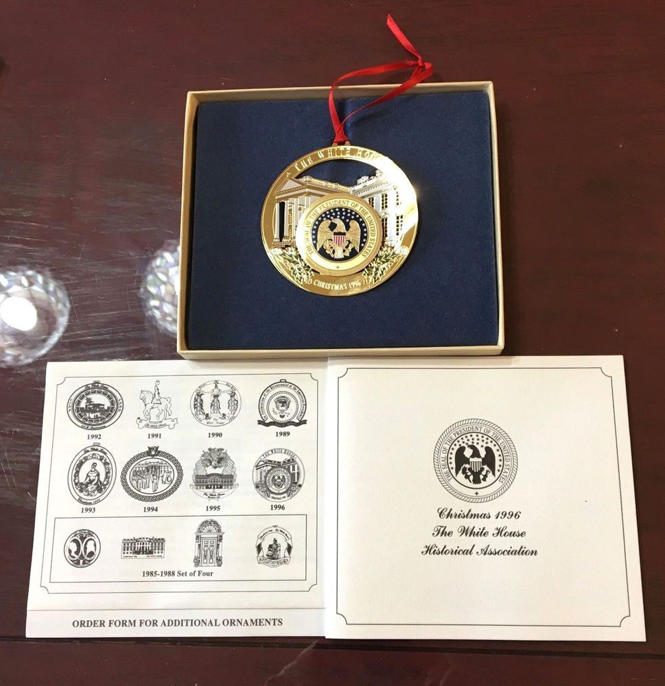 White house christmas ornaments 1993 - White House Historical Association Christmas Ornament 1996 W Box Papers Euc Ebay