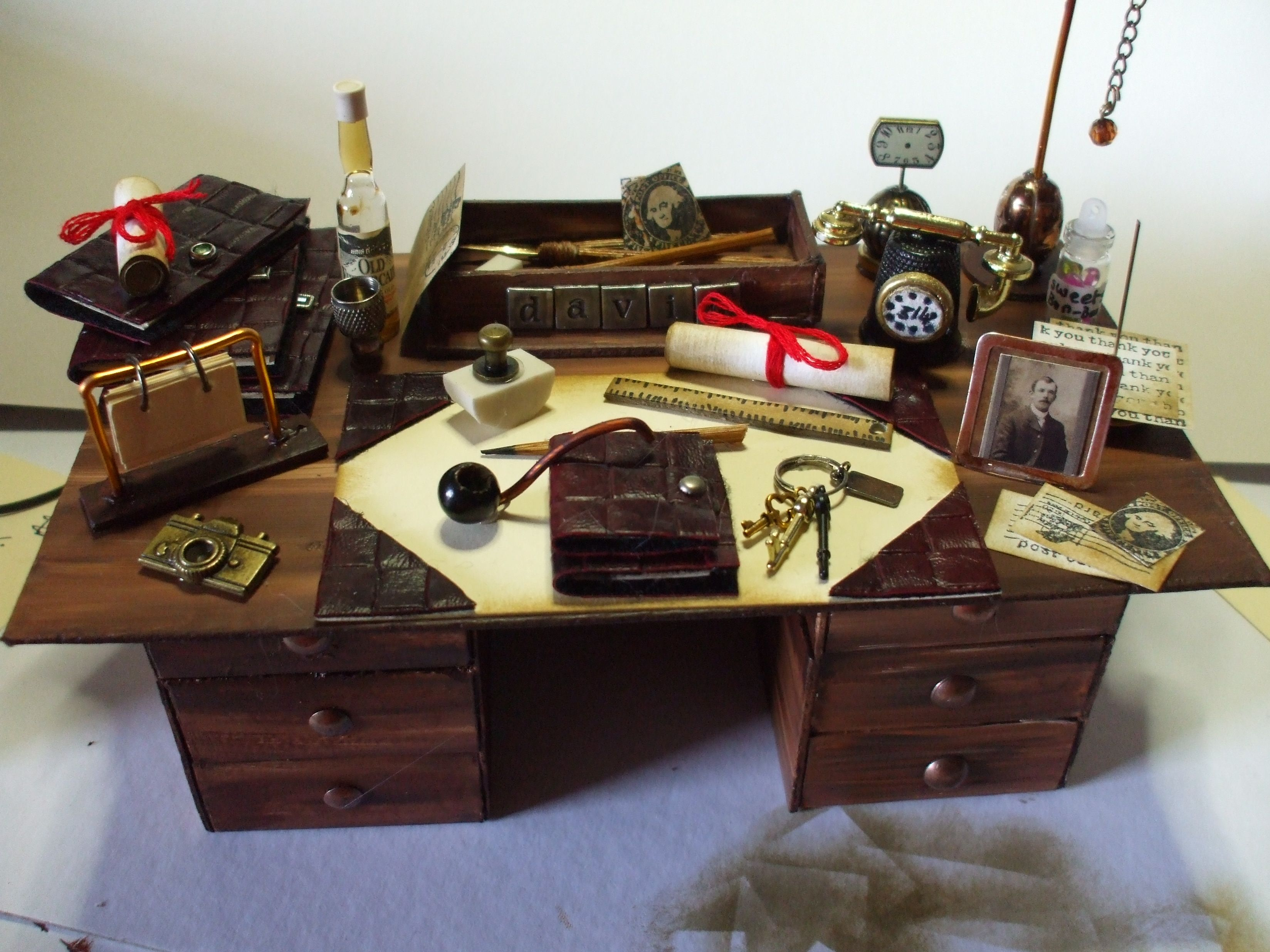 This Is A Miniature Gentleman S Desk That I Created