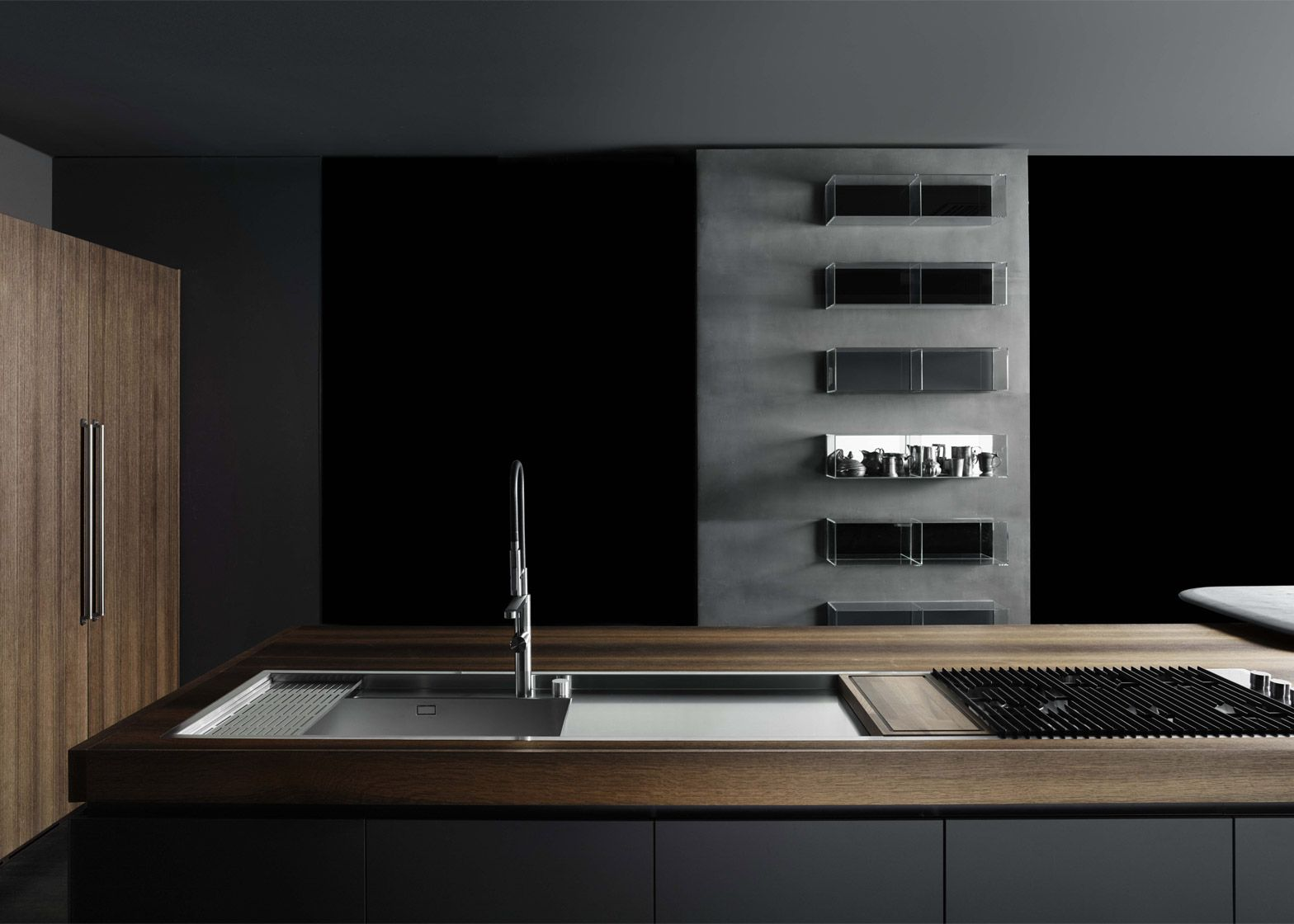 Italian architect Piero Lissoni has designed a series of customisable kitchens, bathroom and ...