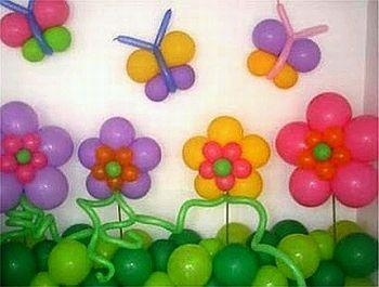 arco de globos verde con flores de globo - Buscar con Google