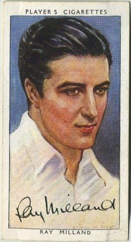 Ray Milland ~ 1938 John Player & Sons Film Stars Tobacco Card, Series 3, #30 on Immortal Ephemera...